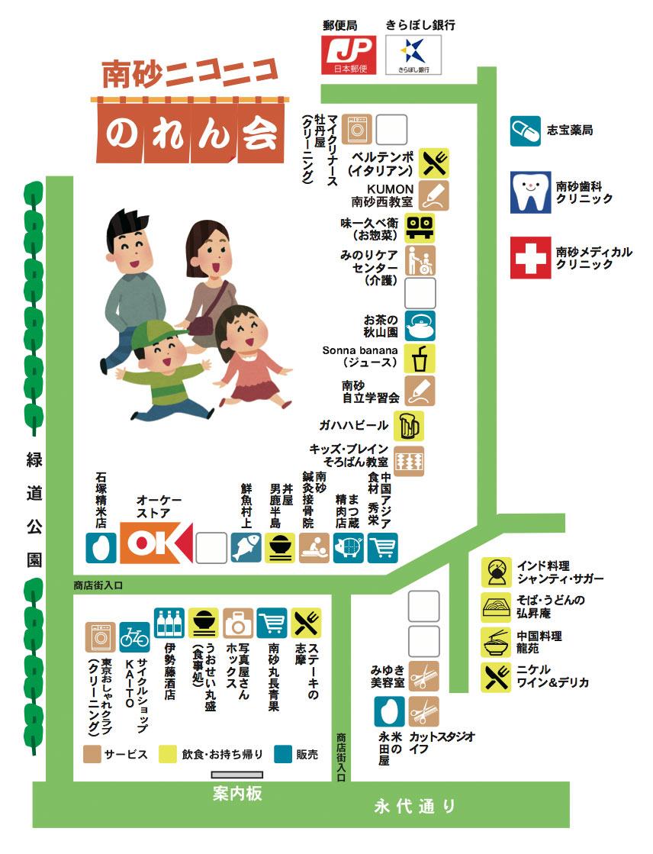 南砂2丁目商店街のマップ